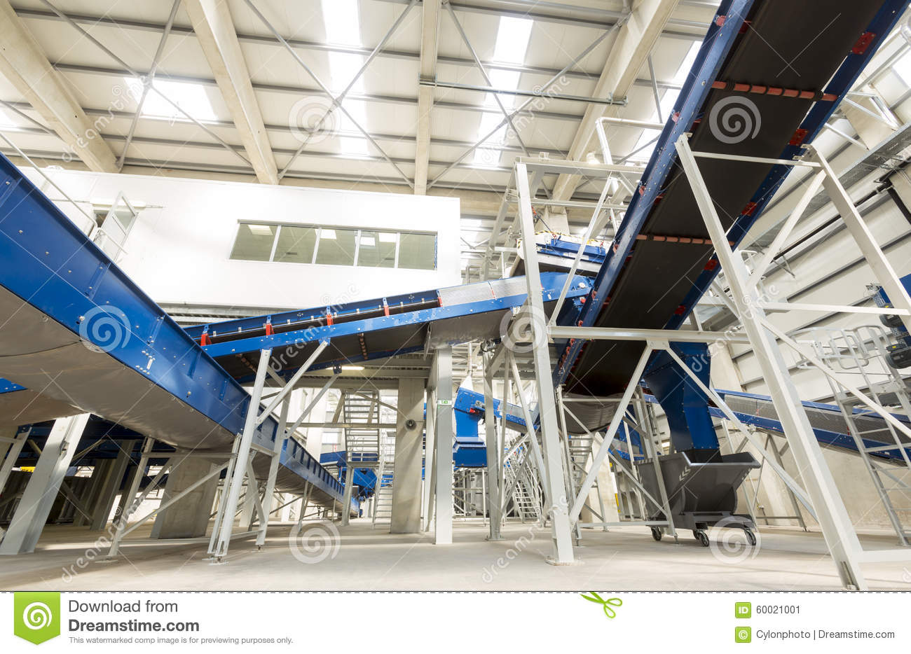 Biomass Garbage Electricity Energy ~ Biomass waste plant inside stock photo image