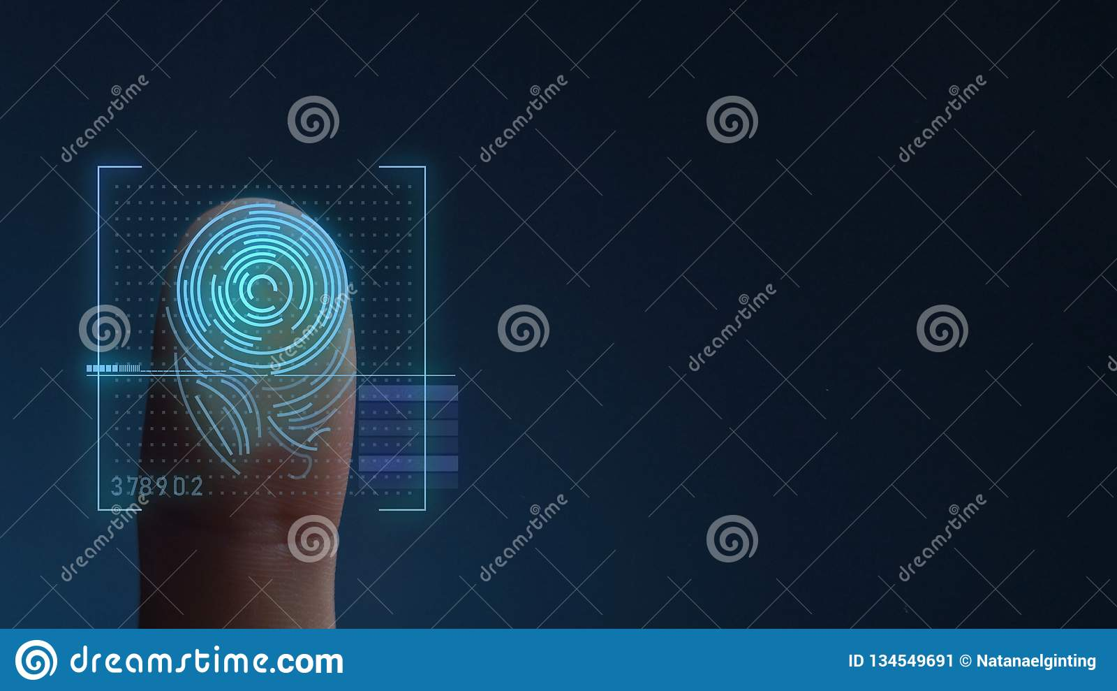Biometric avläsande IDsystem för fingeravtryck kopiera avstånd