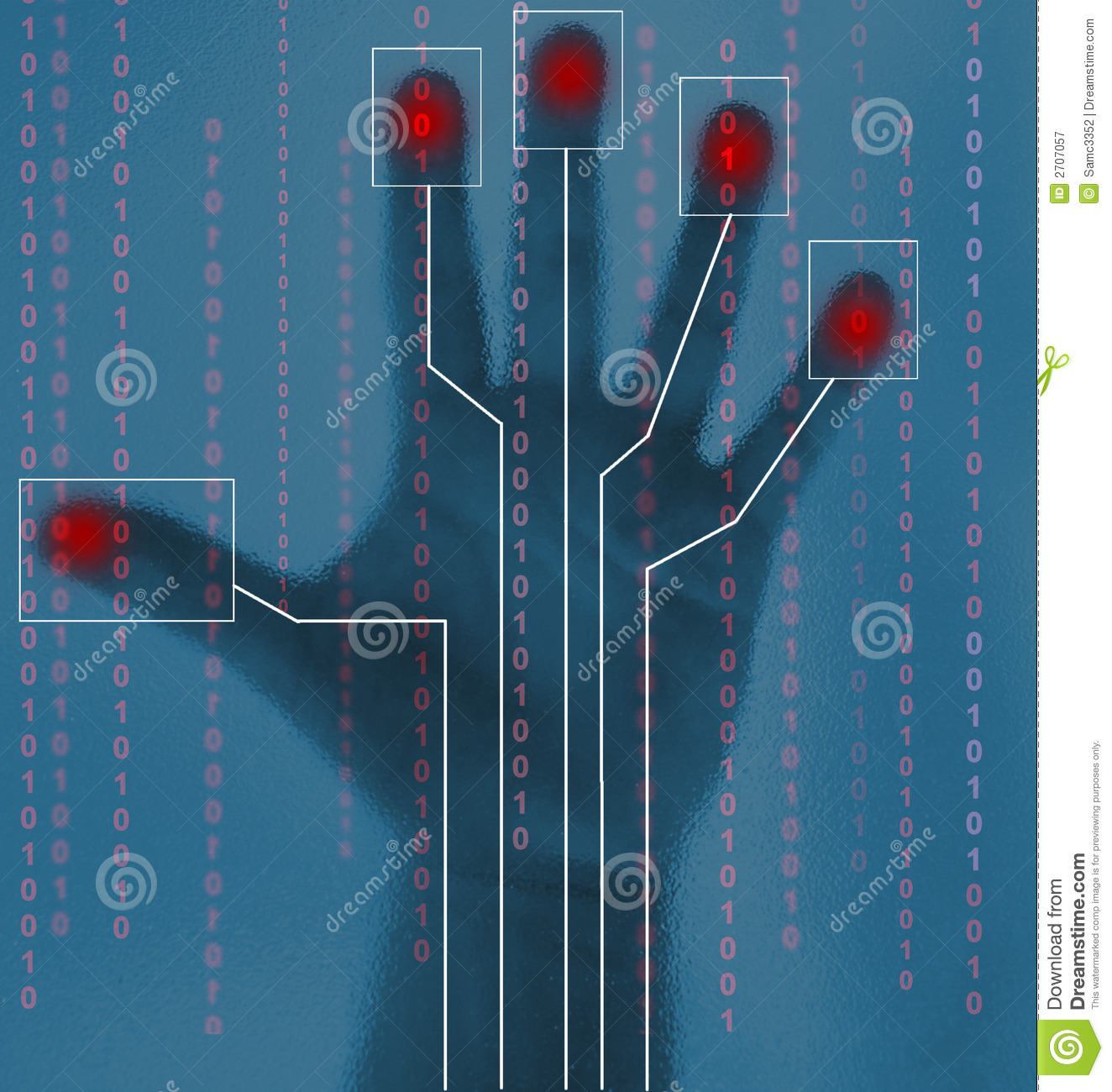 Biometric Security Hand Scan Royalty Free Stock