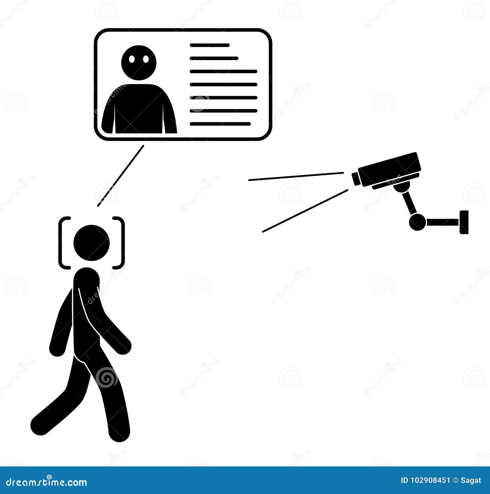 Biometrical证明 面部识别系统概念 面貌识别