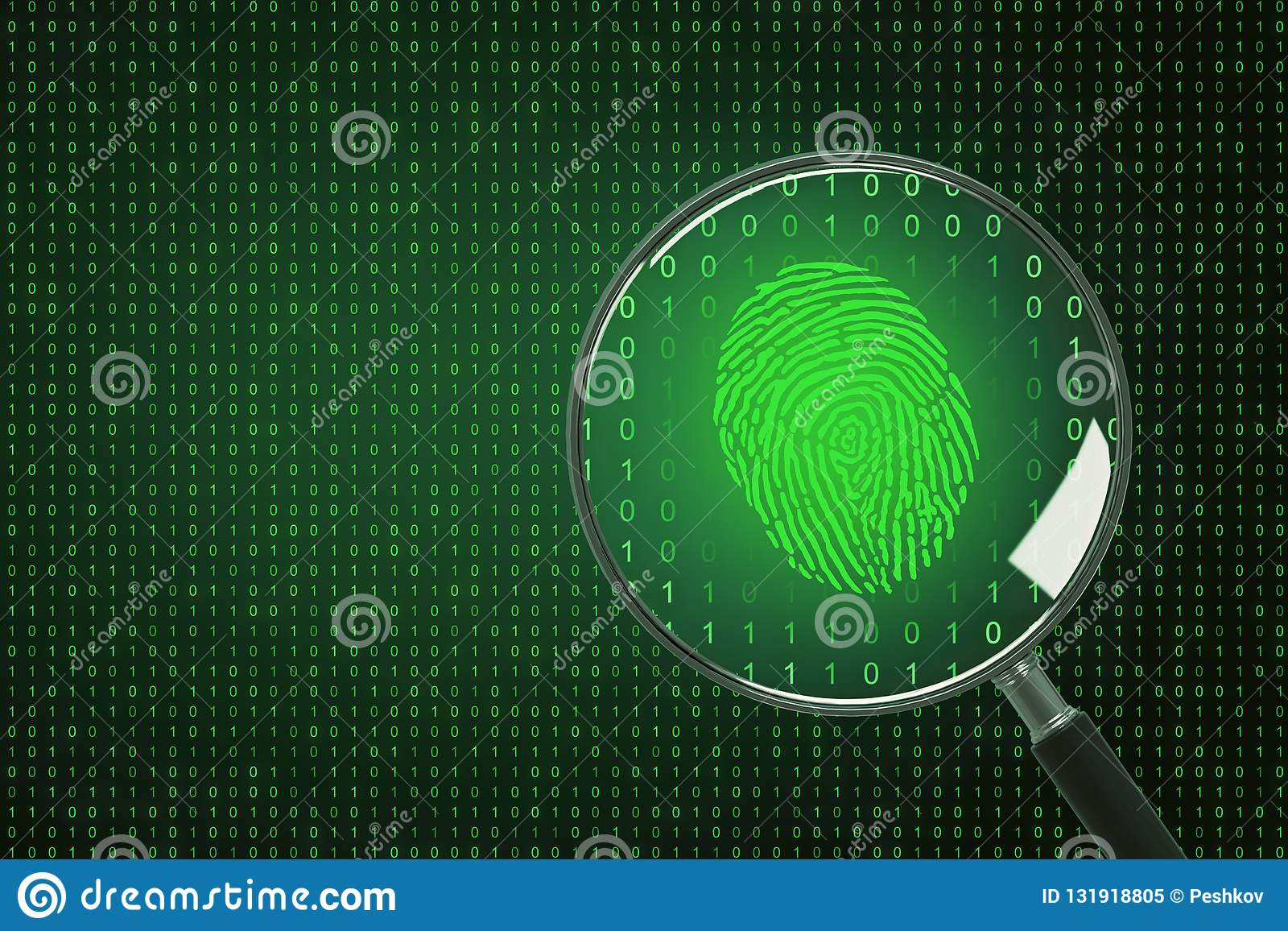 Biometrics and computing concept