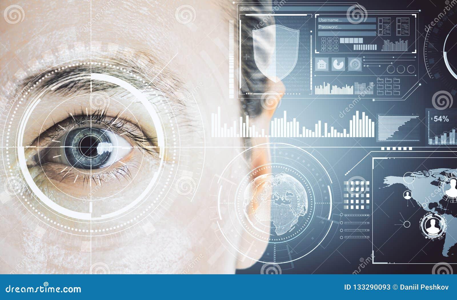 Biometrics And Future Concept Stock Image - Image of data