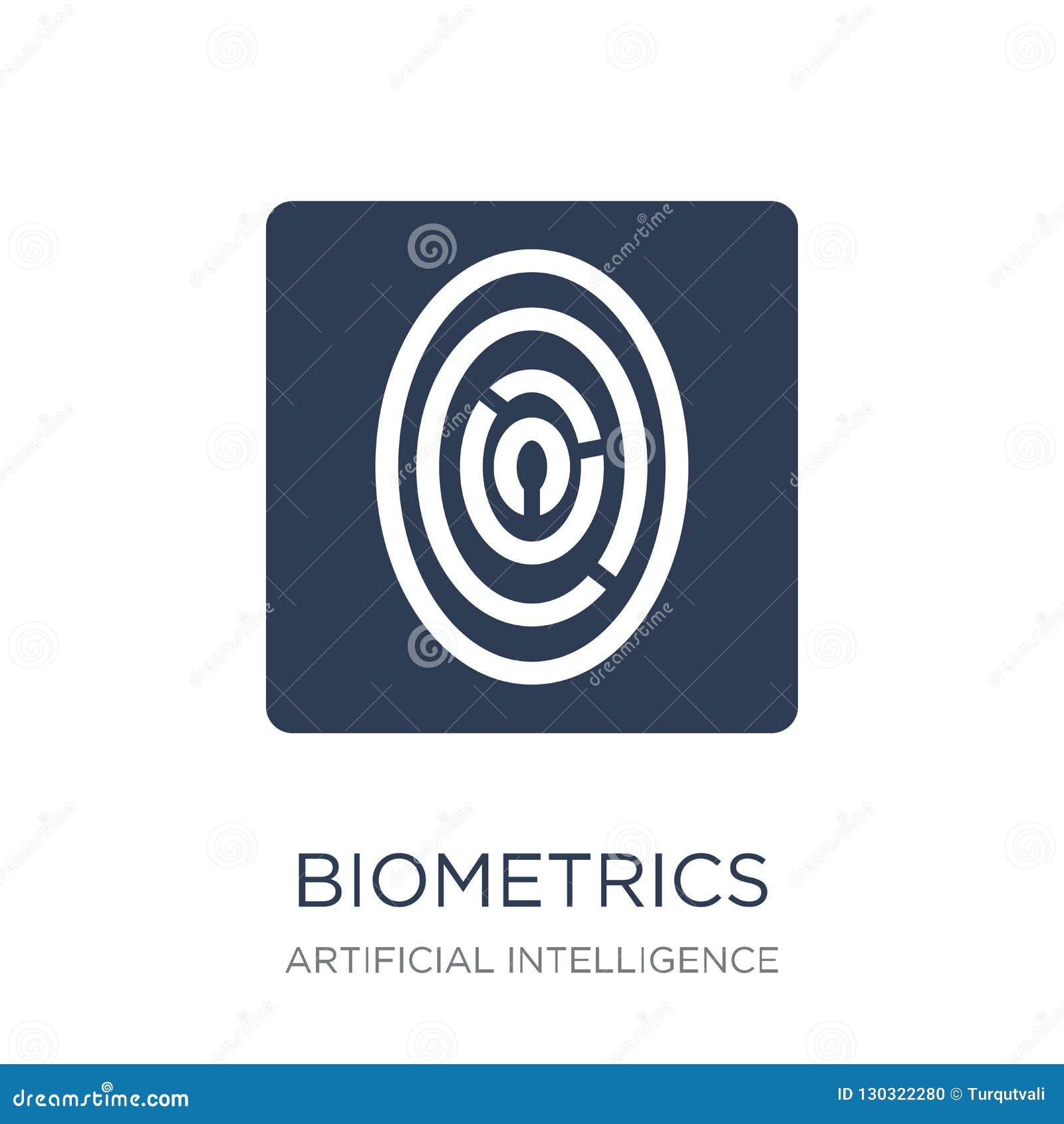 Biometrics Icon  Trendy Flat Vector Biometrics Icon On White