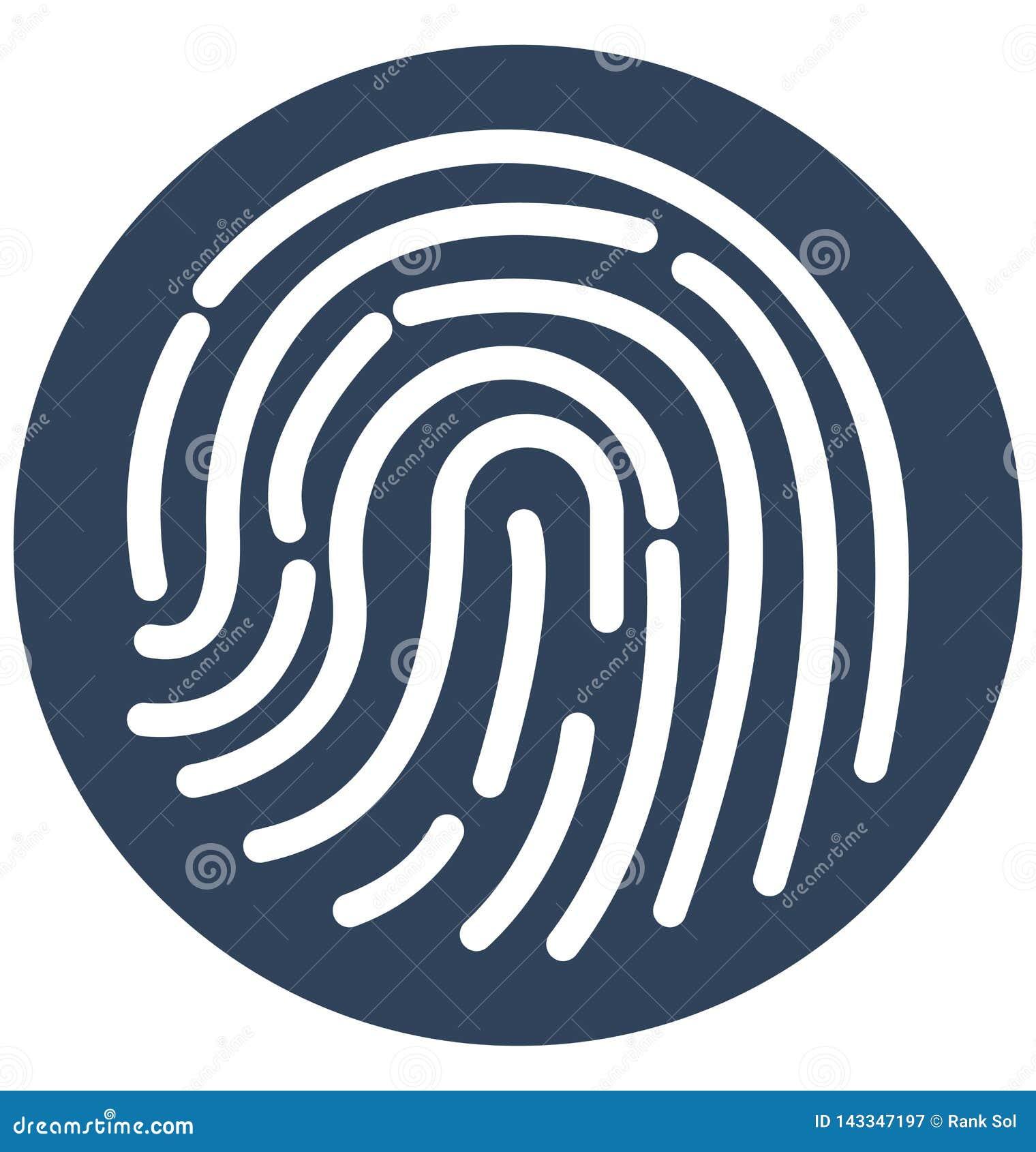 Biometrisch Ge?soleerd Vectorpictogram dat zich gemakkelijk kan wijzigen of uitgeven