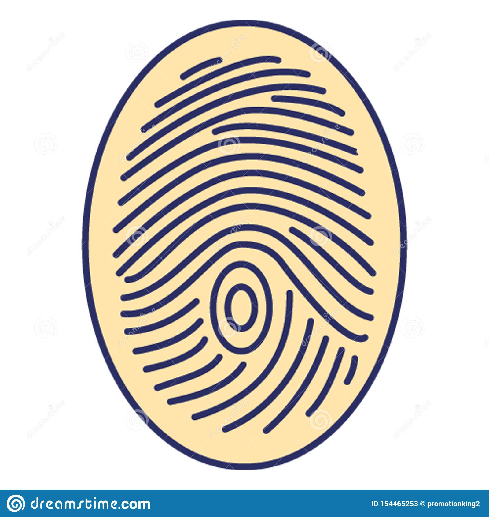Biometrische identificatie, dactylogram Vectorpictogram dat zich gemakkelijk kan wijzigen of uitgeven