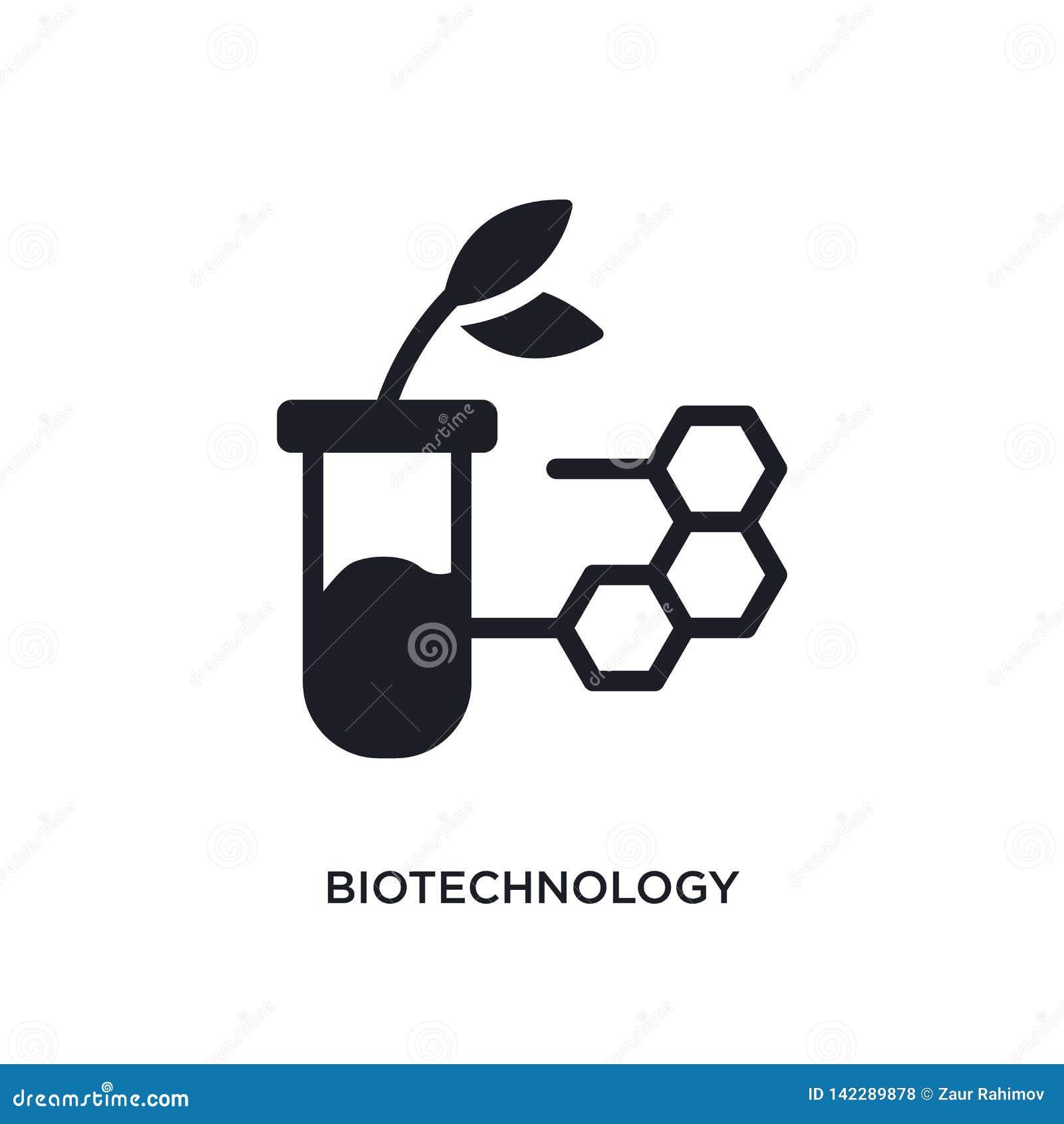 Biotechnologie geïsoleerd pictogram eenvoudige elementenillustratie van algemeen-1 conceptenpictogrammen het tekensymbool van het