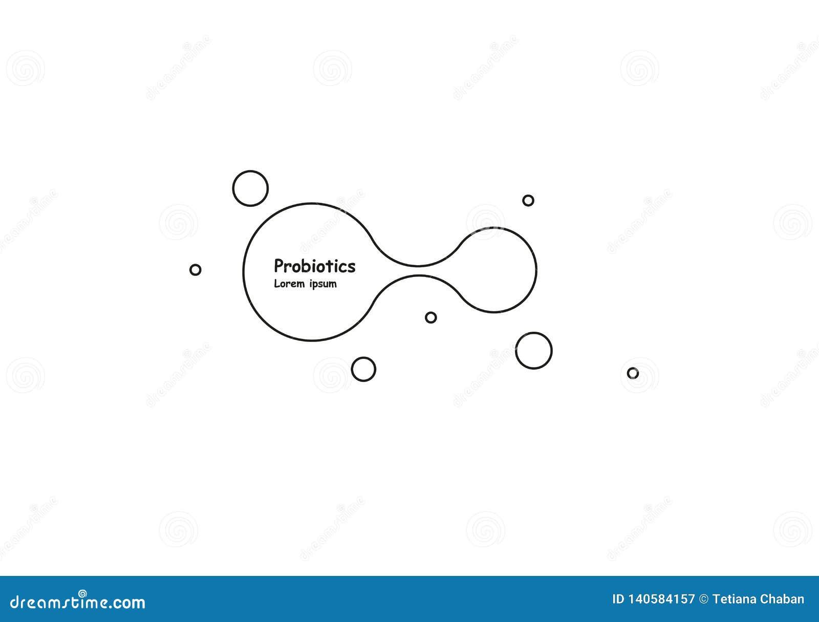 Biotechnologie Symboolmolecule Vectorembleemmalplaatje Abstract molecule vectormalplaatje Nanotechnologieontwikkeling
