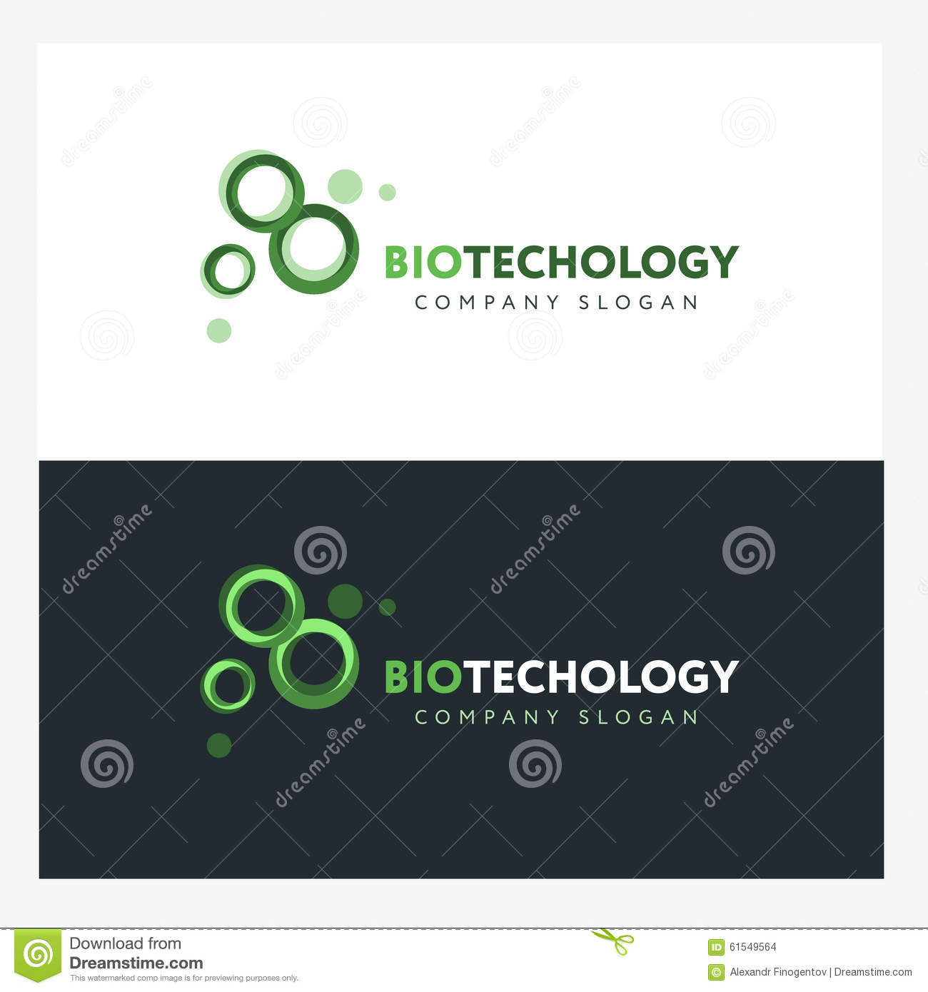 Biotechnology logo design template with abstract green for Green design company