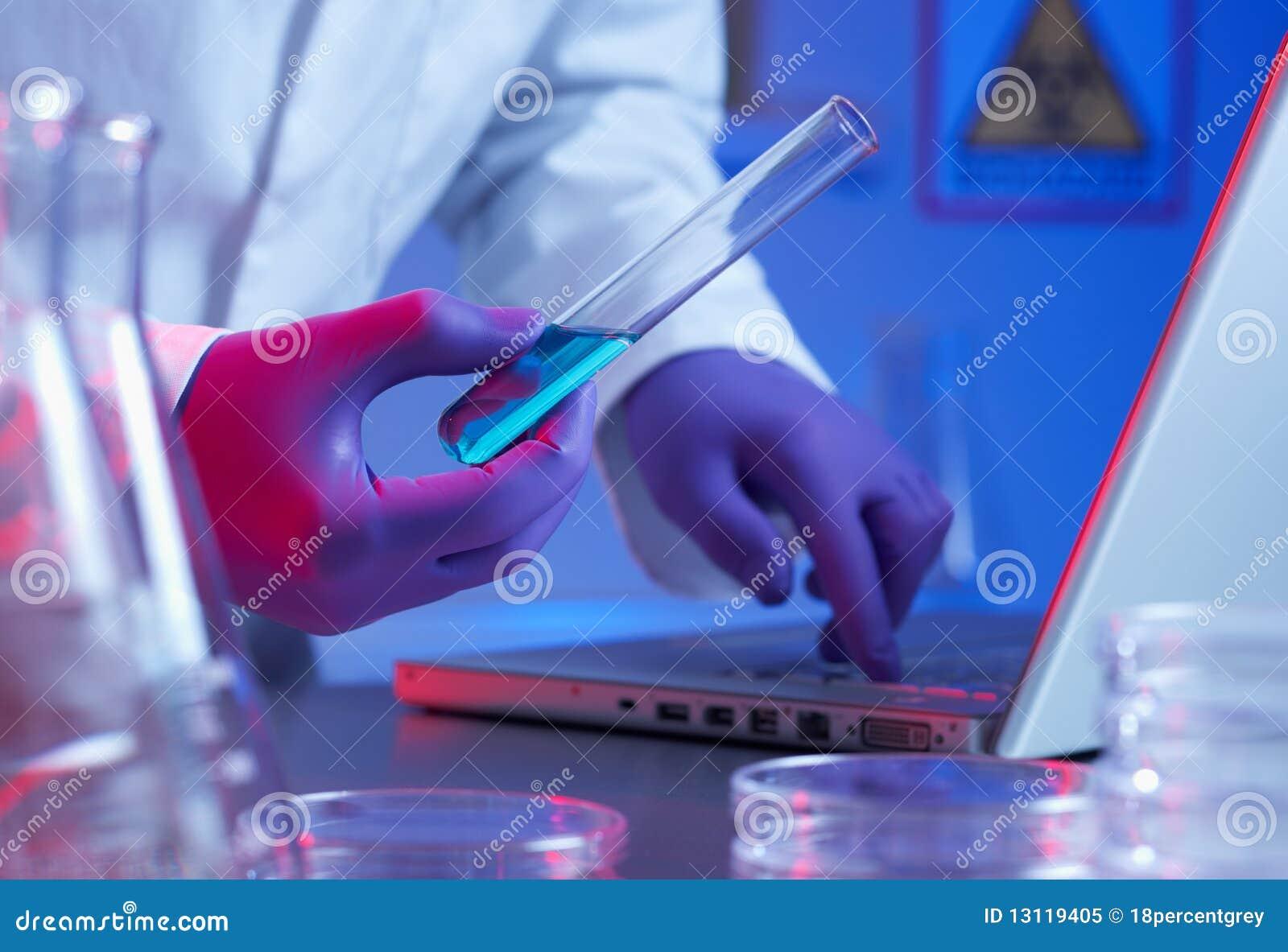 Bioteknikforskningprovrör