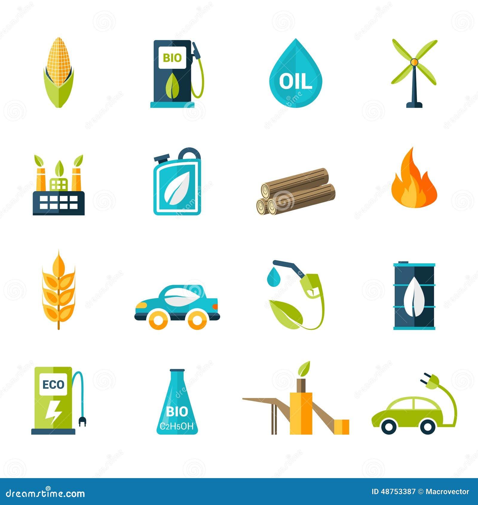 Biotreibstoff-Ikonen Eingestellt Vektor Abbildung - Illustration von ...