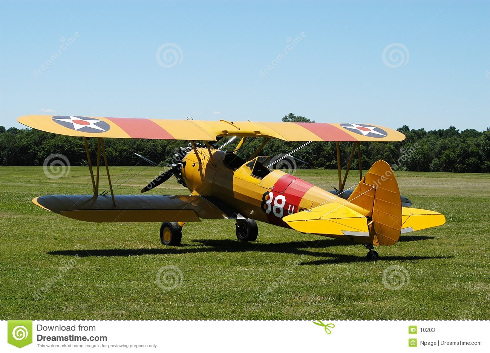 Biplan jaune II