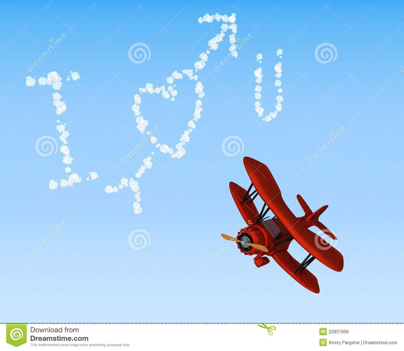 Royalty Free Stock Images Biplane Sky Writing I Love You Image22937909 on Latest Old English Writing