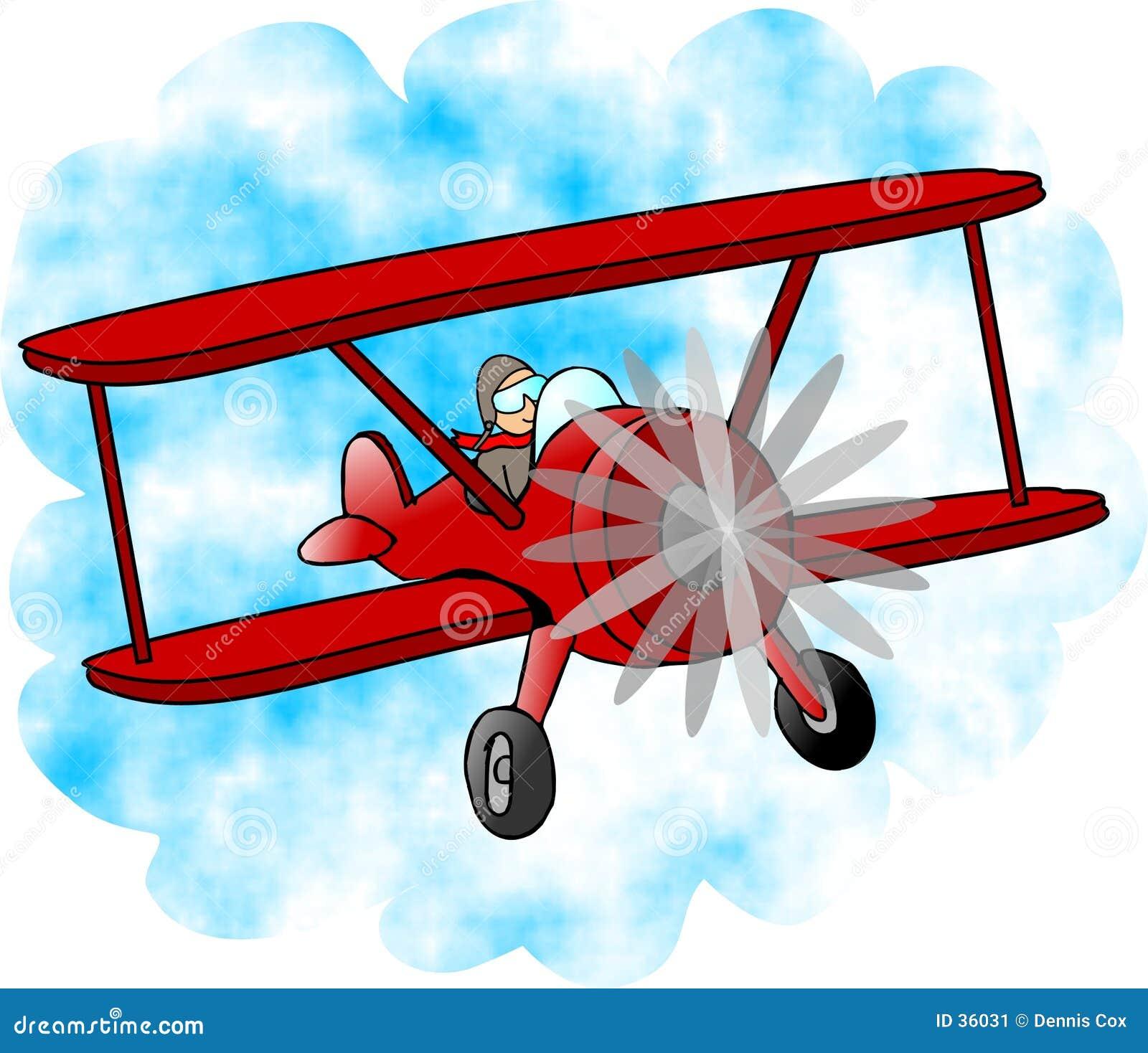 Download Biplano rojo stock de ilustración. Ilustración de biplano - 36031