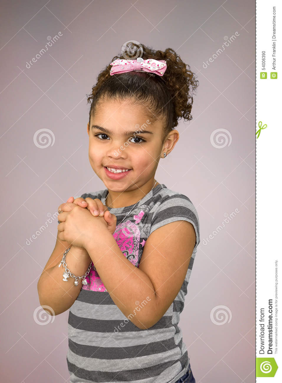 Biracial Little Girl Stock Photo Image Of Ethnicity