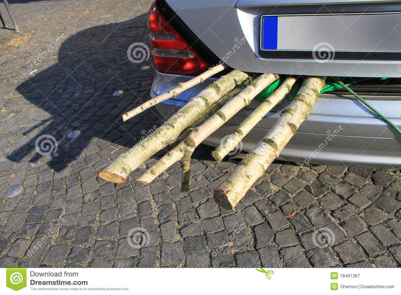 Birch Fire Wood In A Motor Vehicle Luggage Carrier Royalty Free Stock Photography Image 18461367