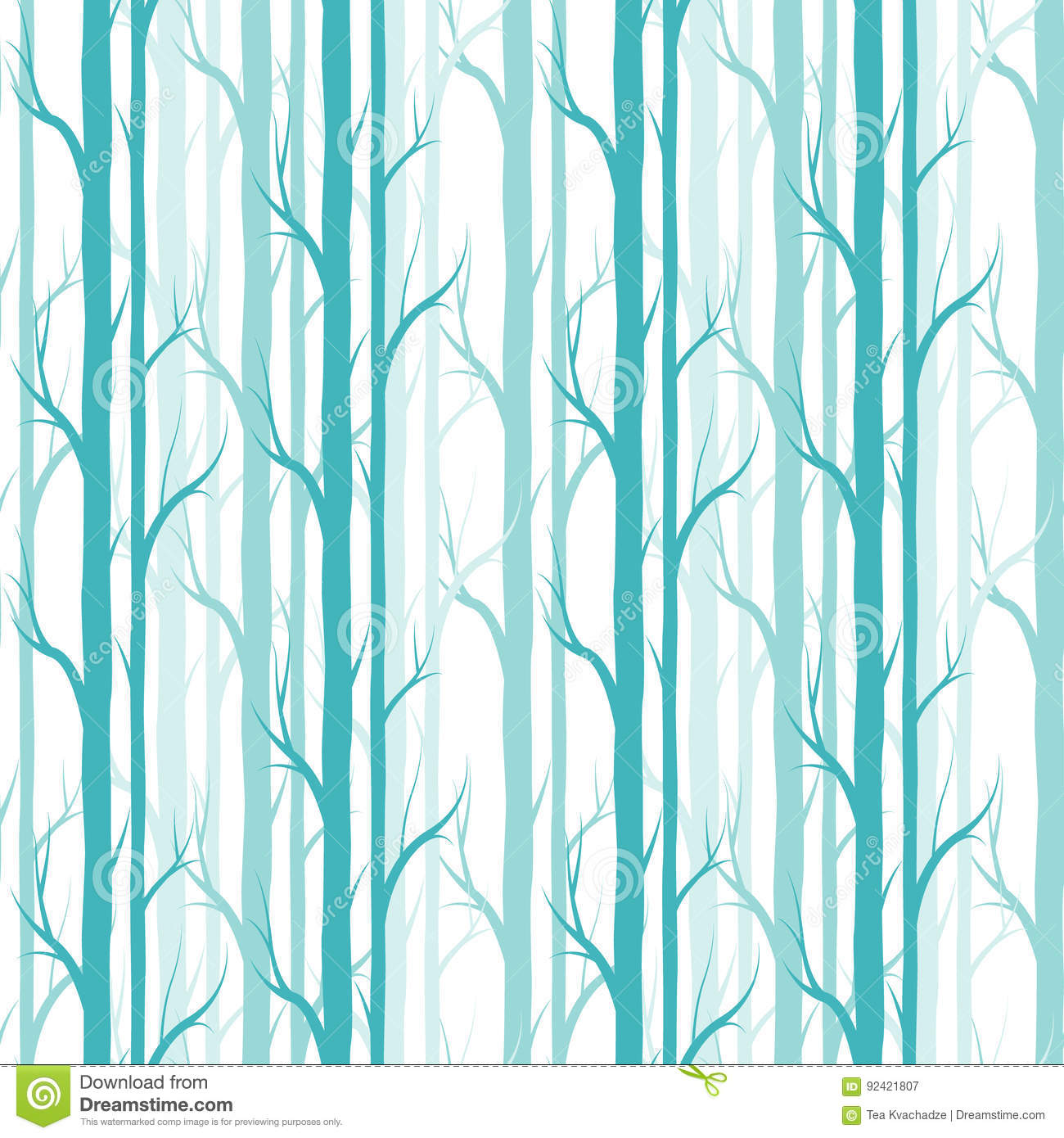 Birch Tree Seamless Pattern Vector Fabricdesign Element For Wallpapers Web Site Background Baby Shower Invitation Birthday Card Illustration 92421807 Megapixl