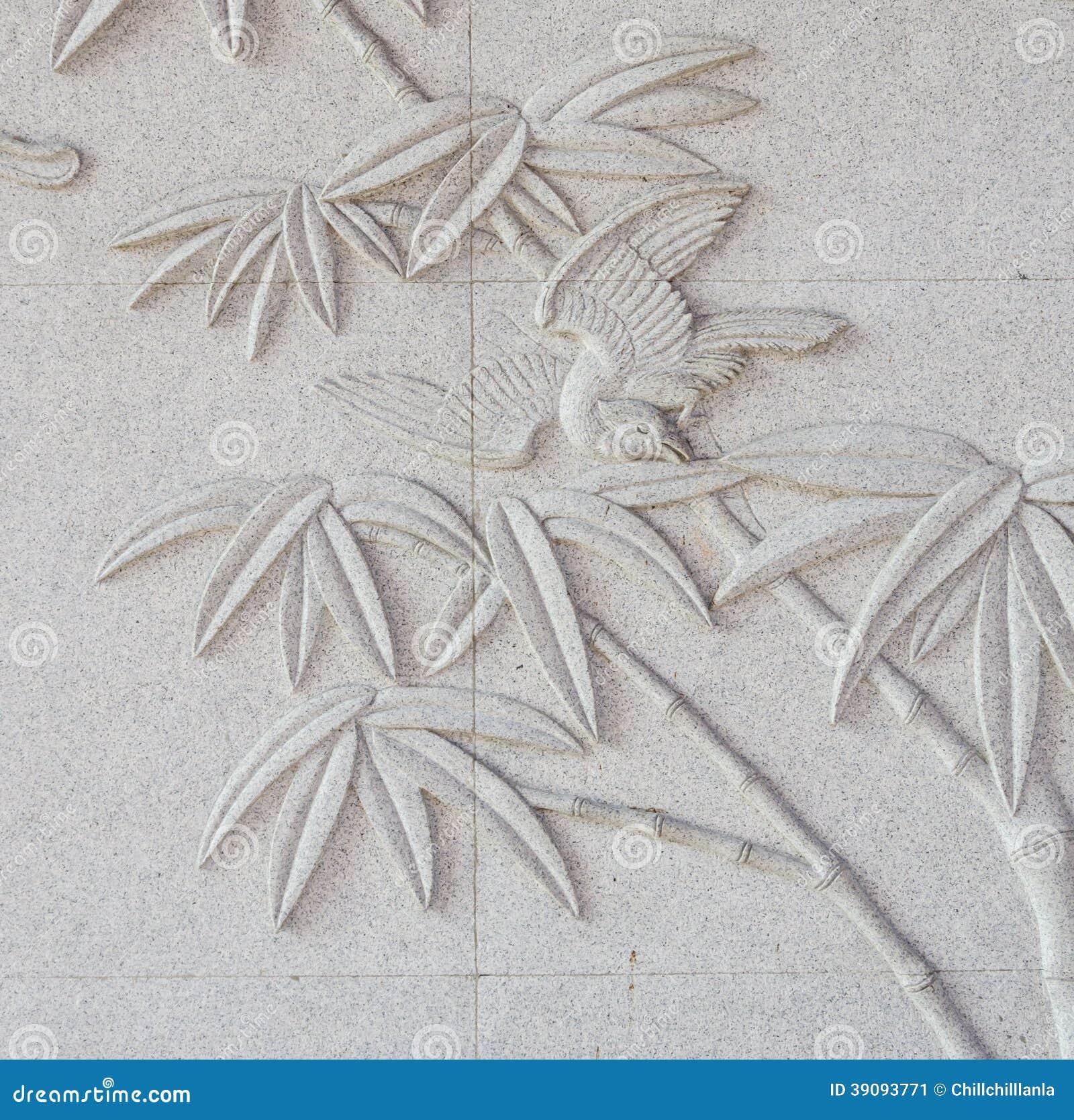 Stone Wall Art asian style stone wall art royalty free stock photo - image: 4537525