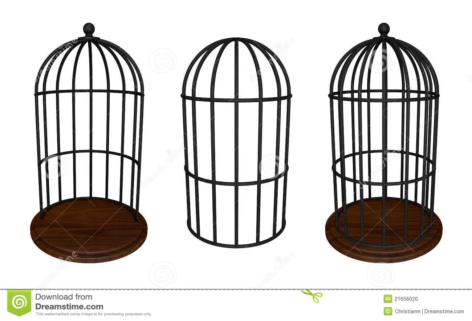 Bird Cage Stock Photo Image 21656020