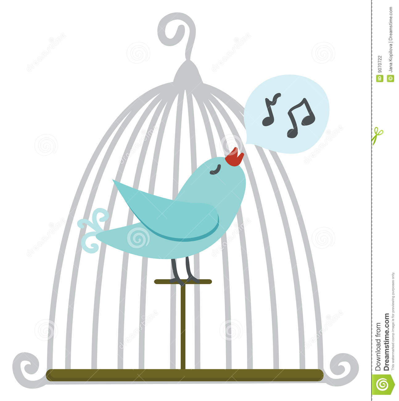 bird in cage stock photography image 9070722
