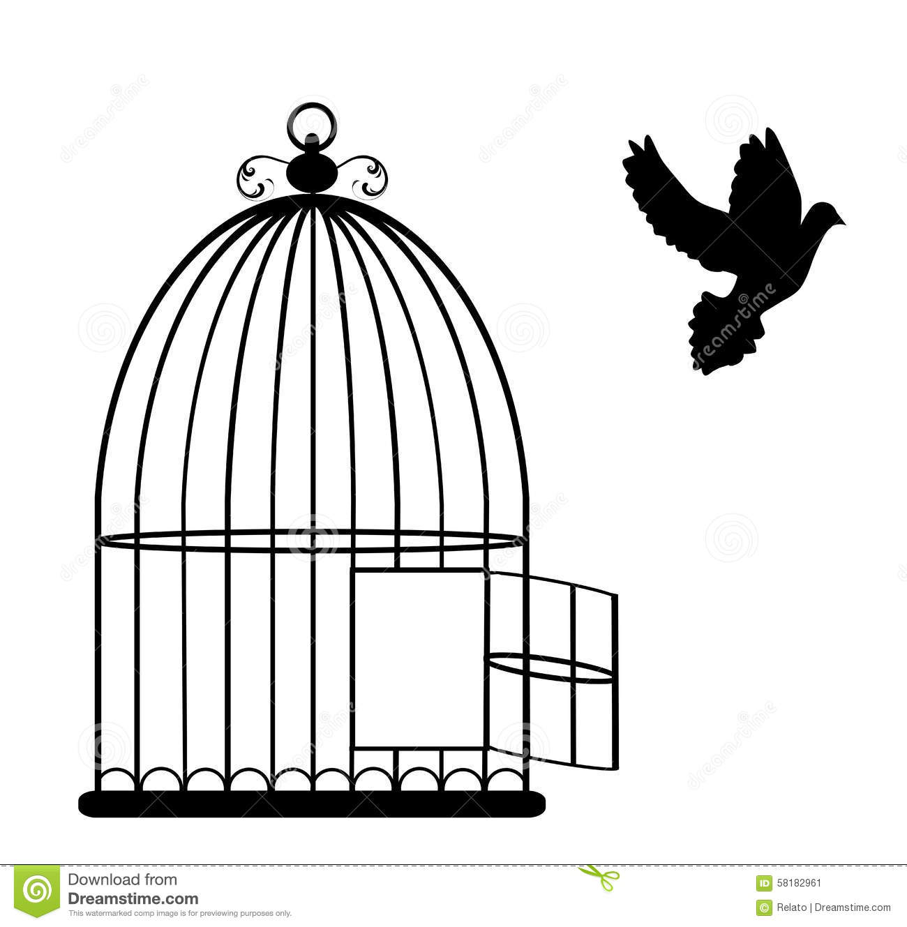 bird cage stock vector image of decoration  cute  free open birdcage clipart vintage birdcage clipart free