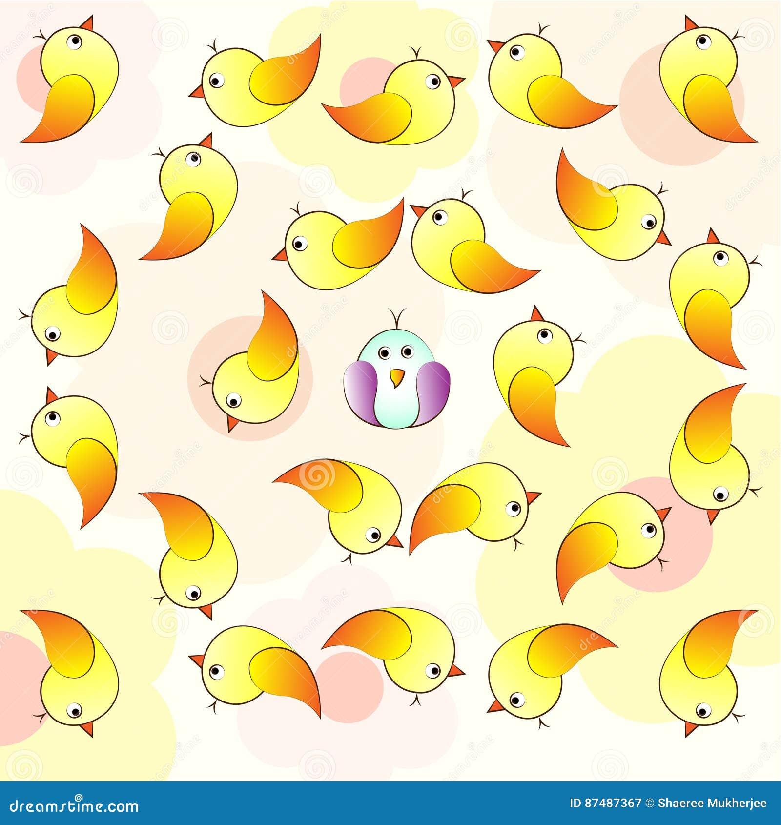 Bird Crowd Pattern