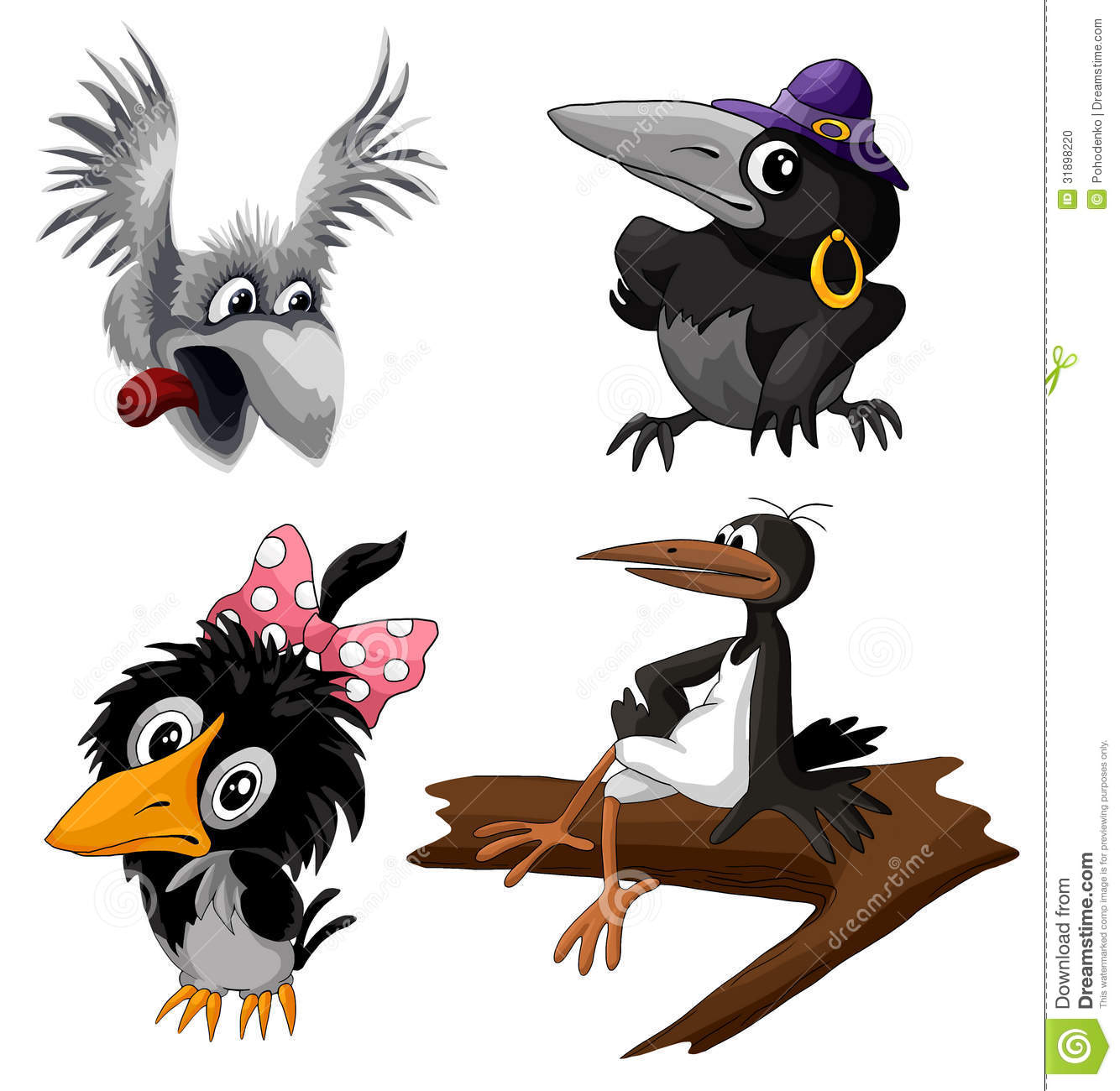 2 Crows Cartoon Characters : Bird crows stork clipart cartoon style illustration white