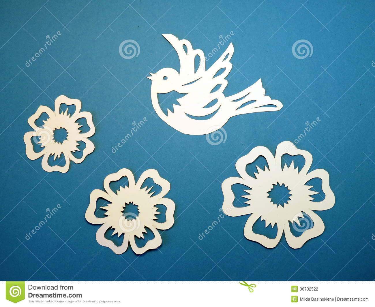 Bird and flowers paper cutting stock photo image of abstract bird and flowers paper cutting mightylinksfo