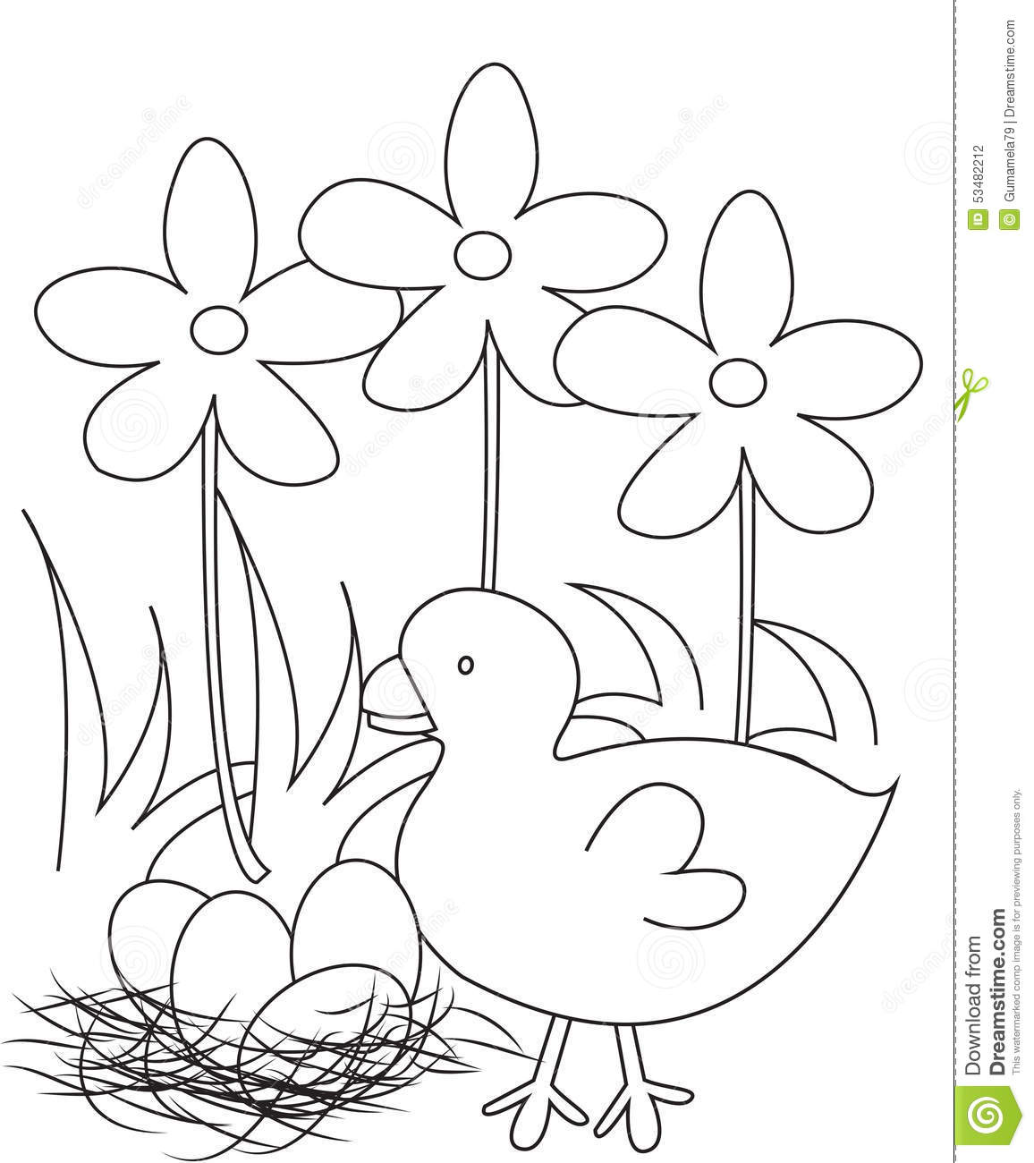 bird eggs coloring pages - photo#14