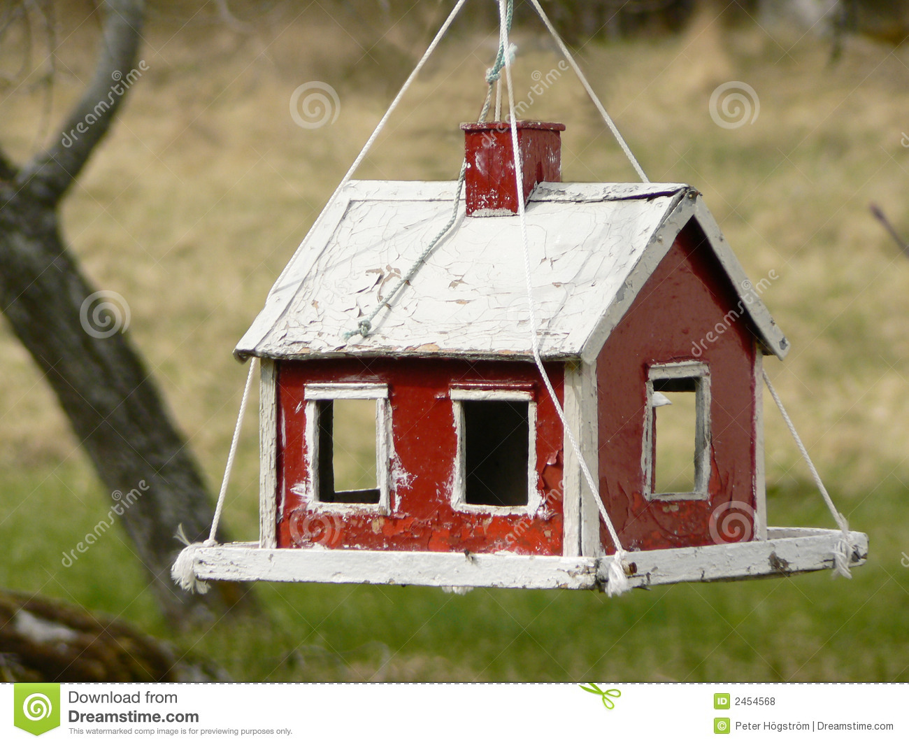 Bird House Feeder on parts of the house clipart