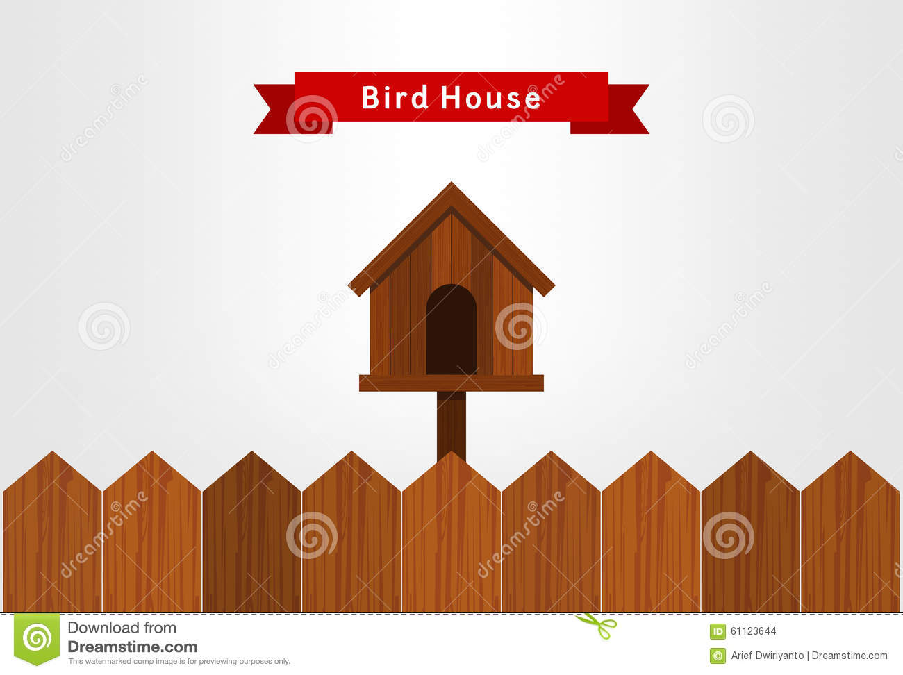 Bird House Stock Vector Image 61123644