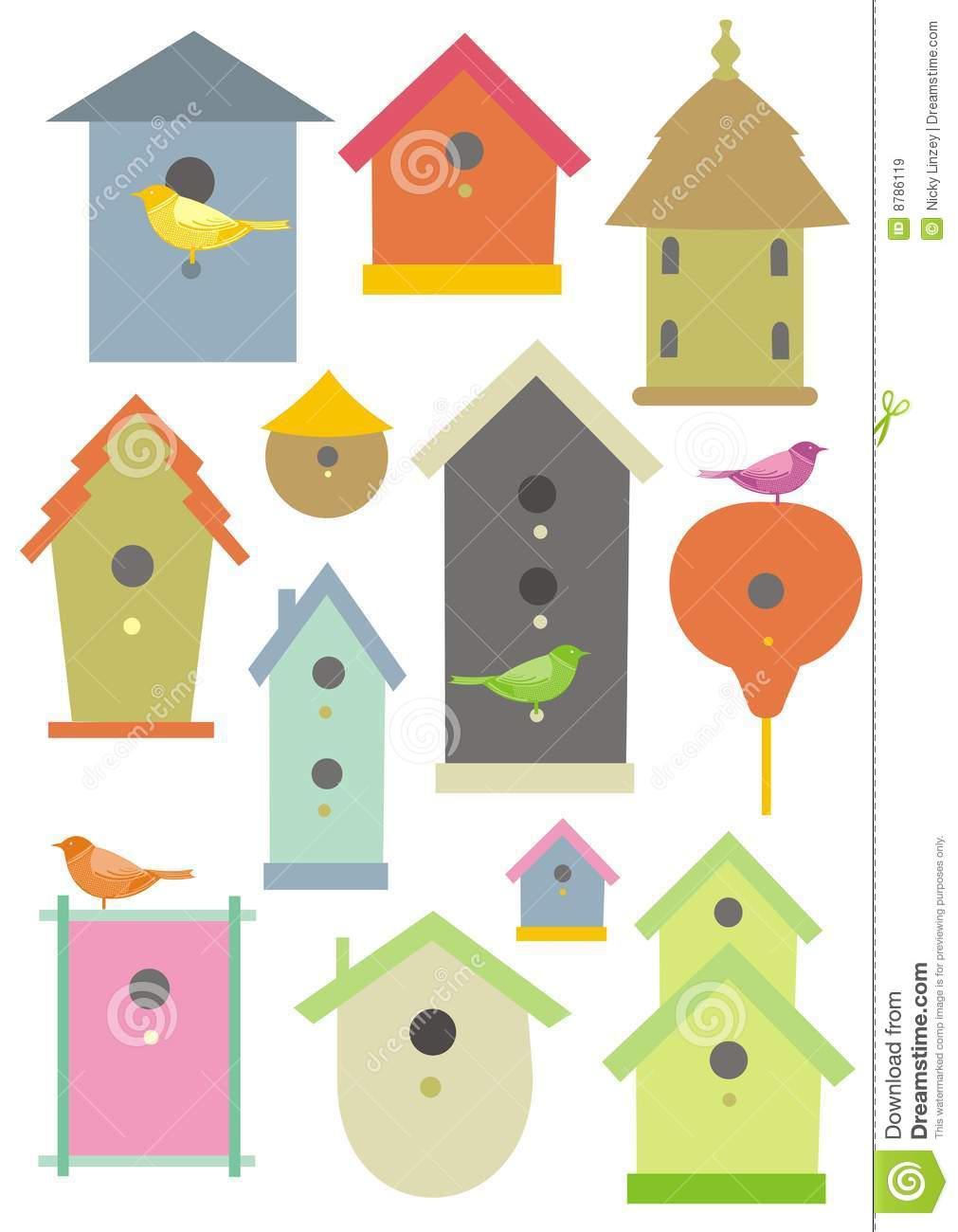 Bird Houses Royalty Free Stock Images Image 8786119