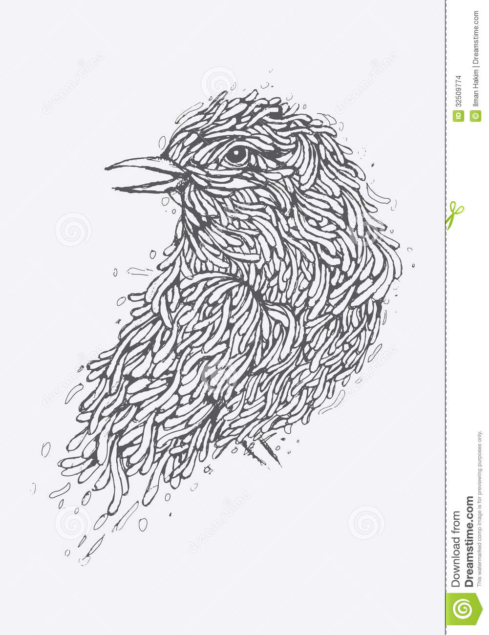 Line Art Illustration Style : Bird illustration stock images image