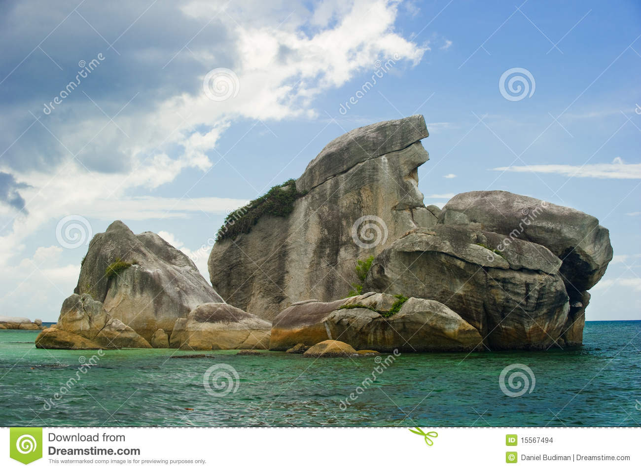 Belitung Indonesia  city photos : Bird Island Belitung Indonesia Landmark Stock Images Image: 15567494