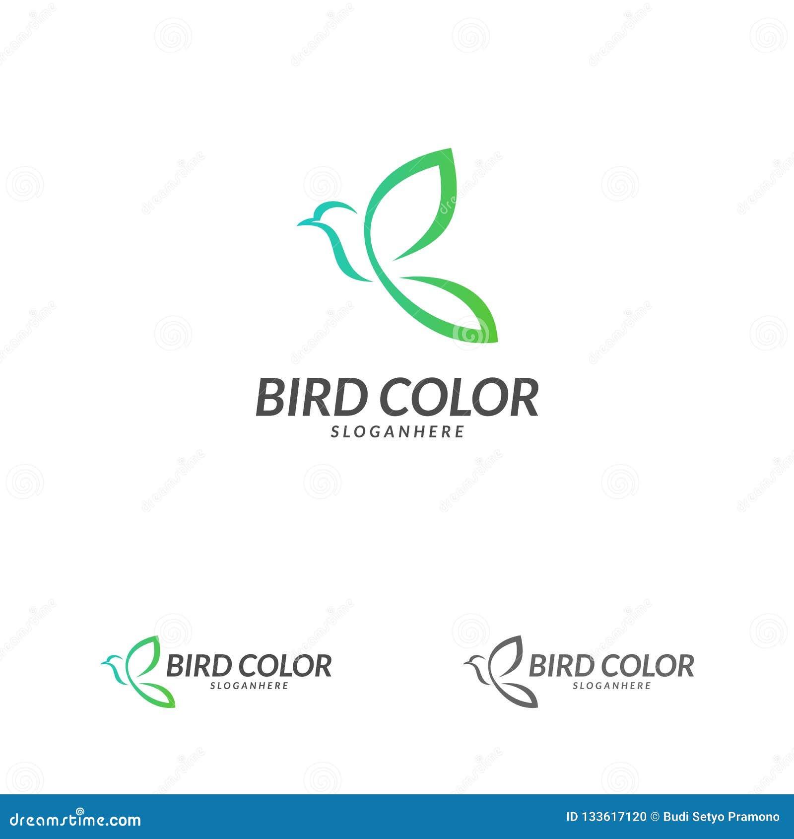 Bird Logo Vector Flying Bird Logo Design Vector Template