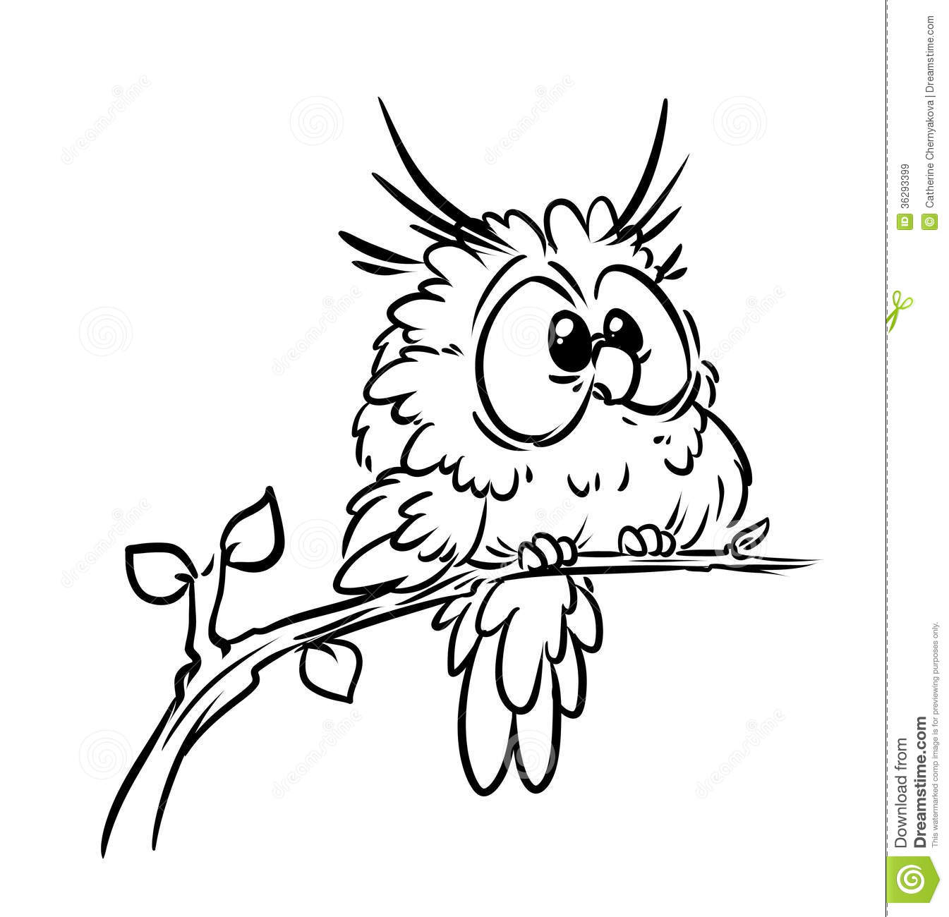 Bird owl coloring pages stock illustration Illustration