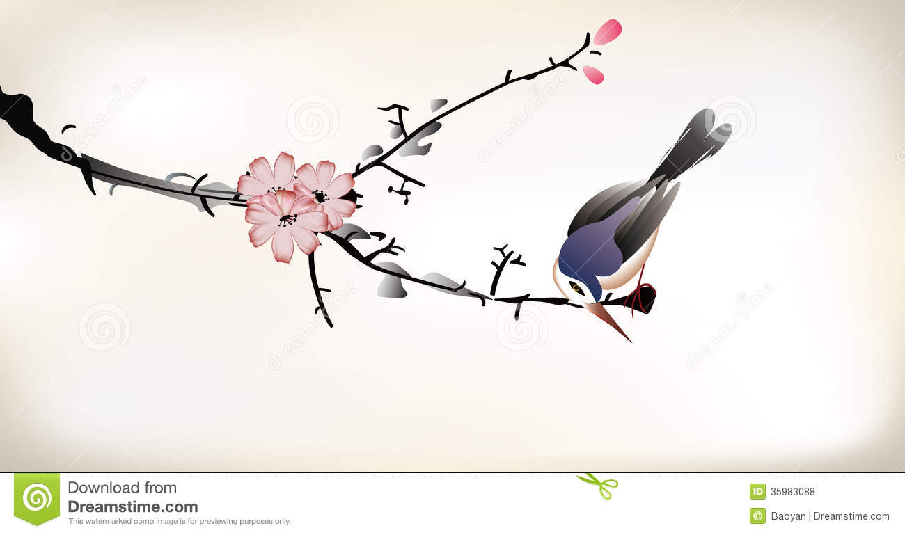 Japanese Bird Painting