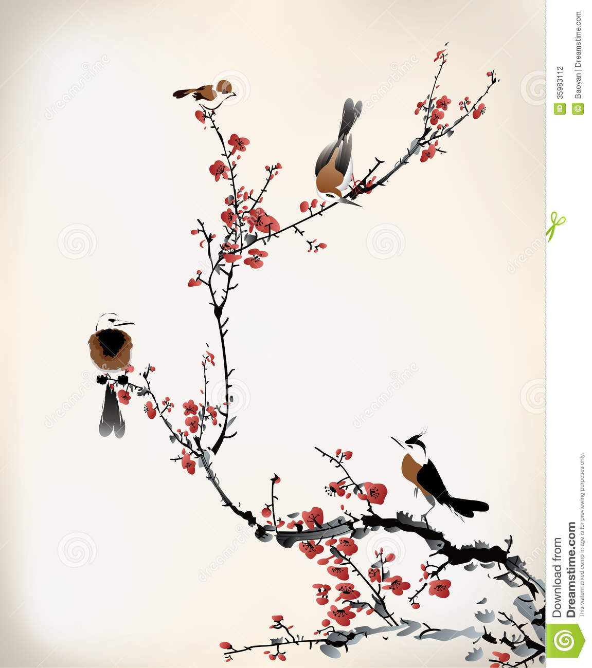 Bird Painting Stock Photography - Image: 35983112
