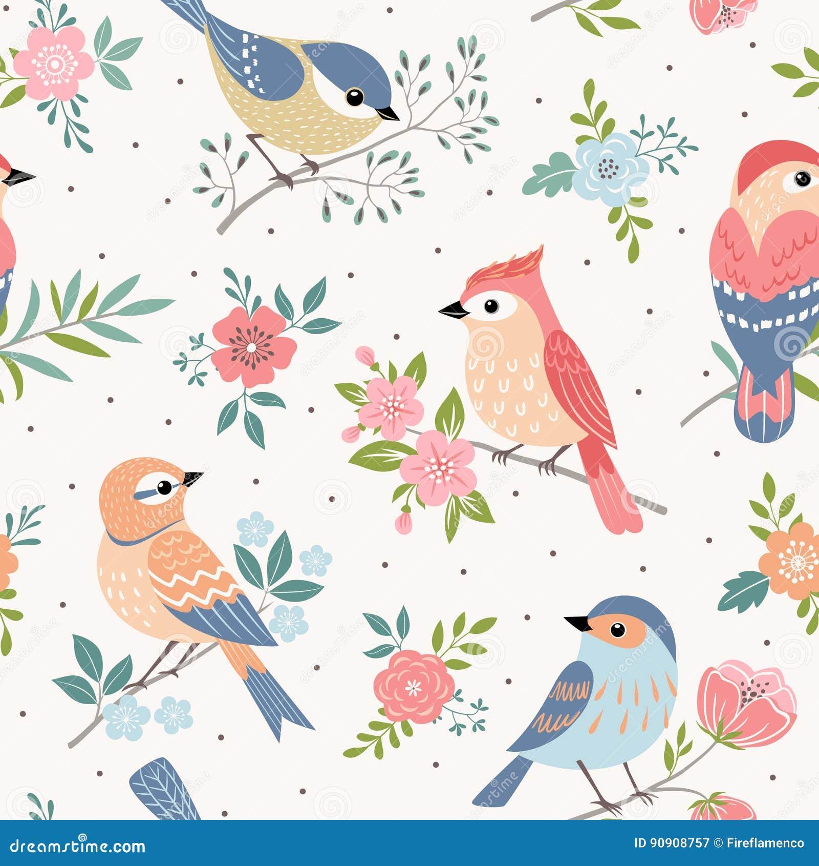 bird pastel pattern stock vector illustration of pattern 90908757