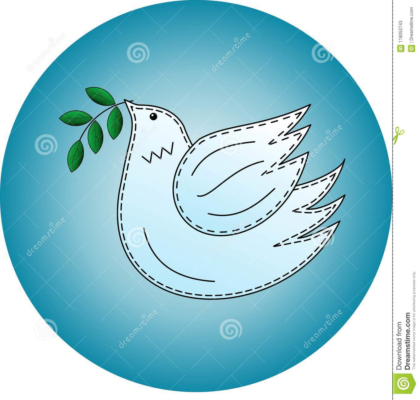 Bird The Dove Pigeon Symbol Of Peace Logo Stock Vector