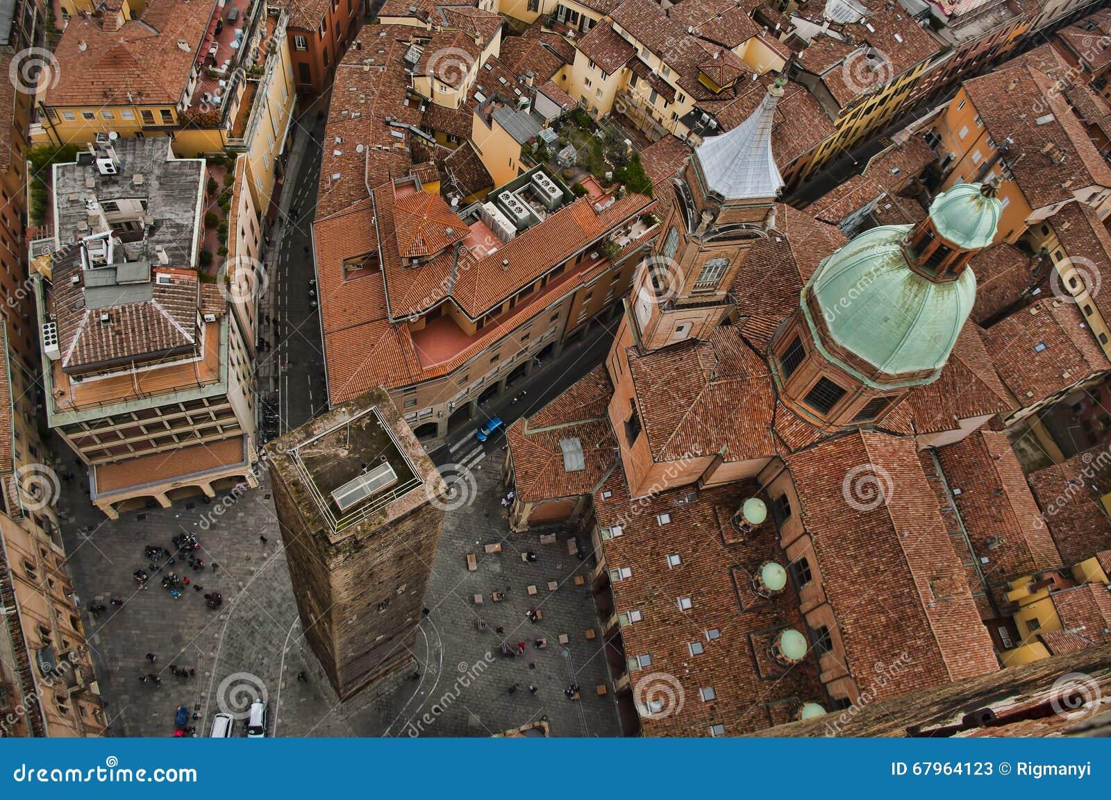 Bird s eye view of Bologna