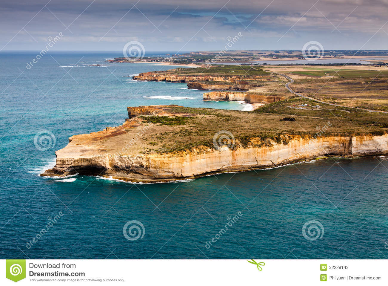 Bird s-eye view of Port Campbell National Park