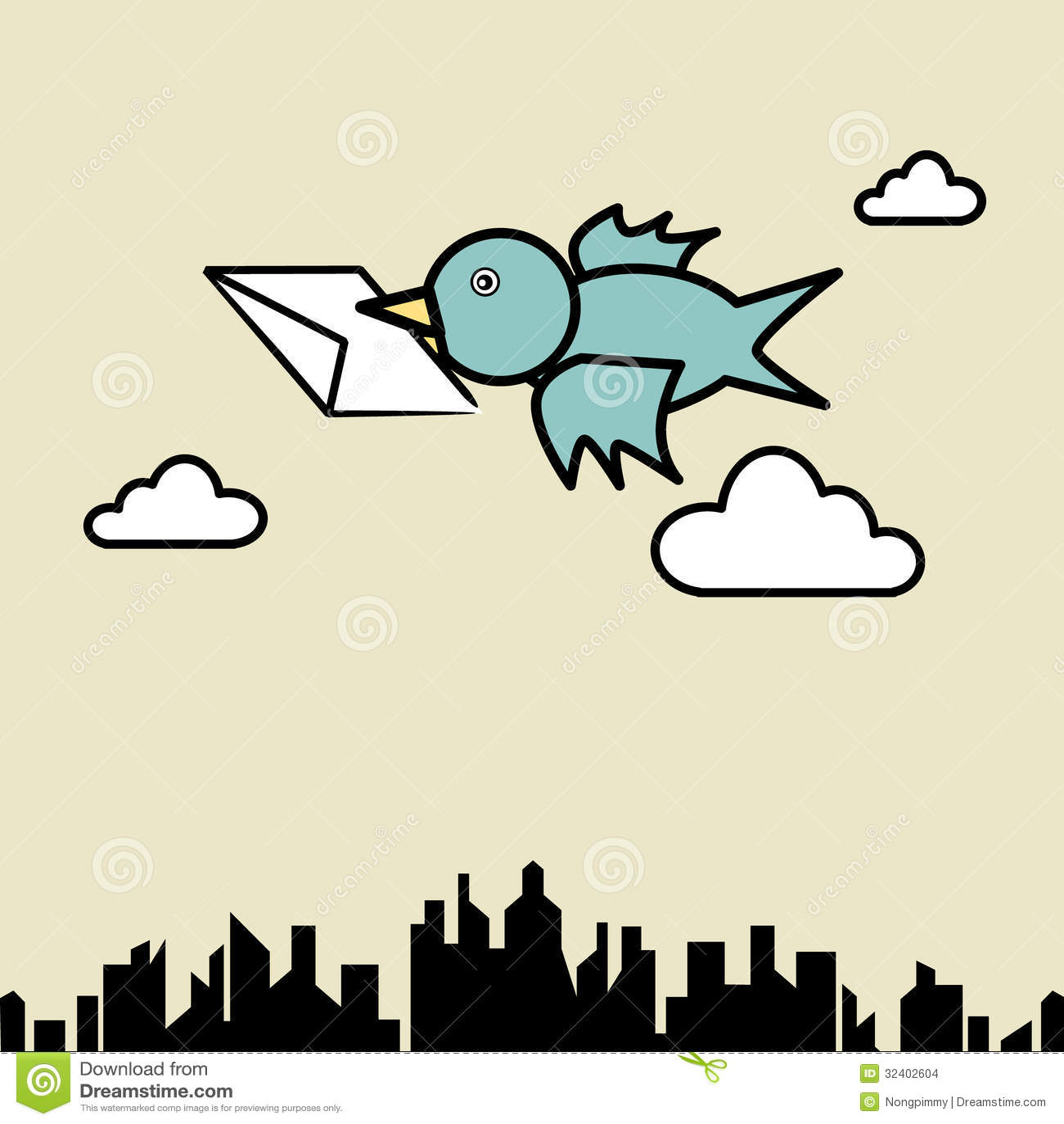 bird sending letter stock images image 32402604 envelope clip art for boys envelope clip art floral