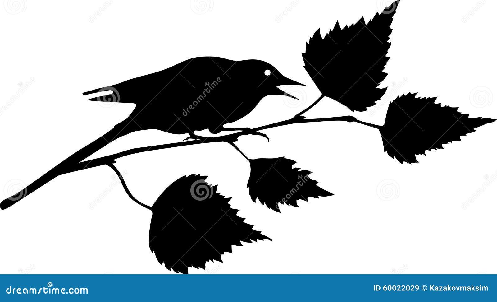 sitting bird silhouette