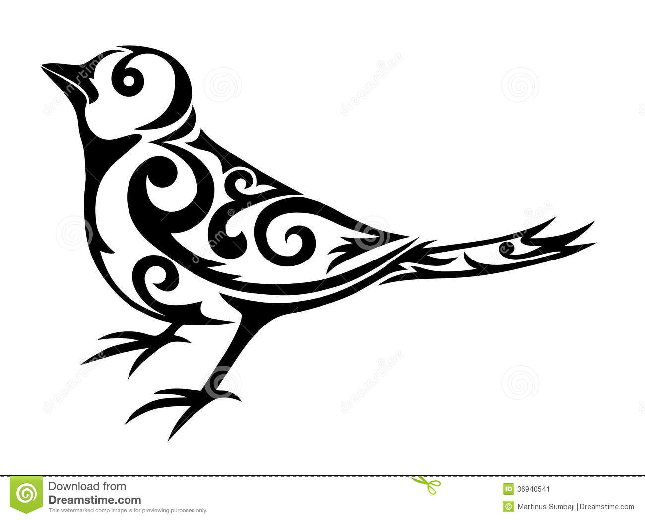 bird tribal stock image image 36940541