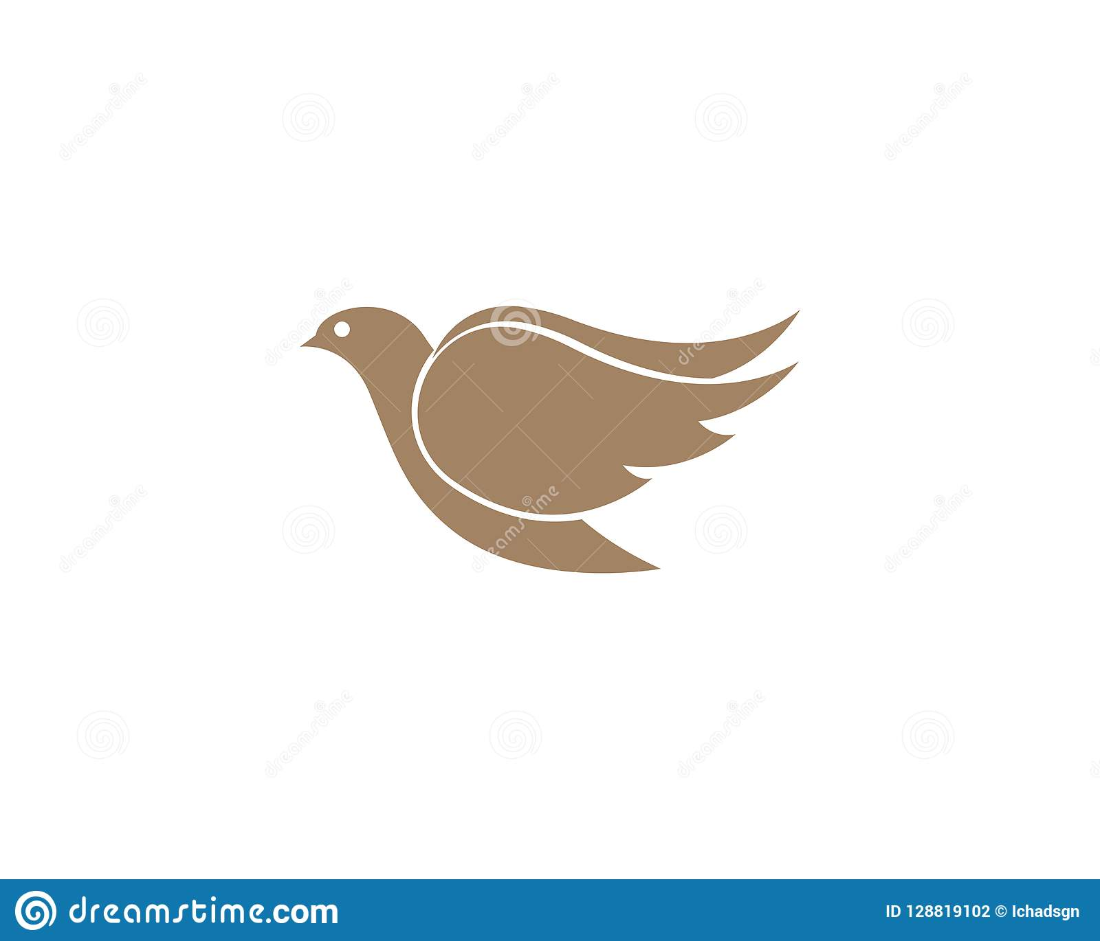 bird wing dove logo template stock illustration illustration of