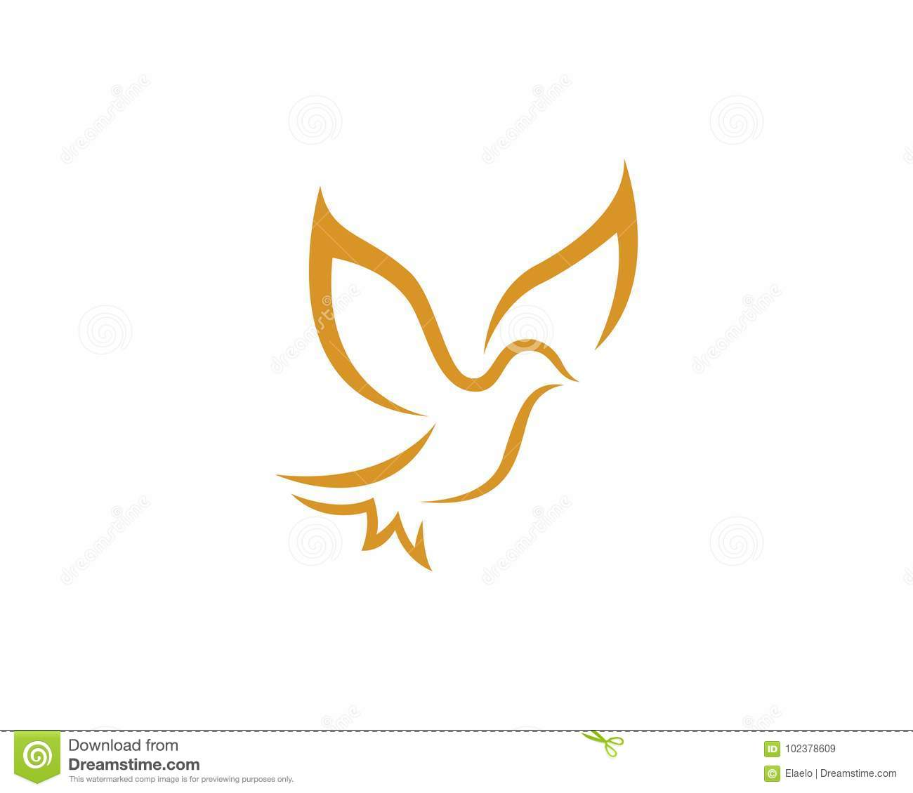 bird dove logo template stock vector illustration of heart 102378609