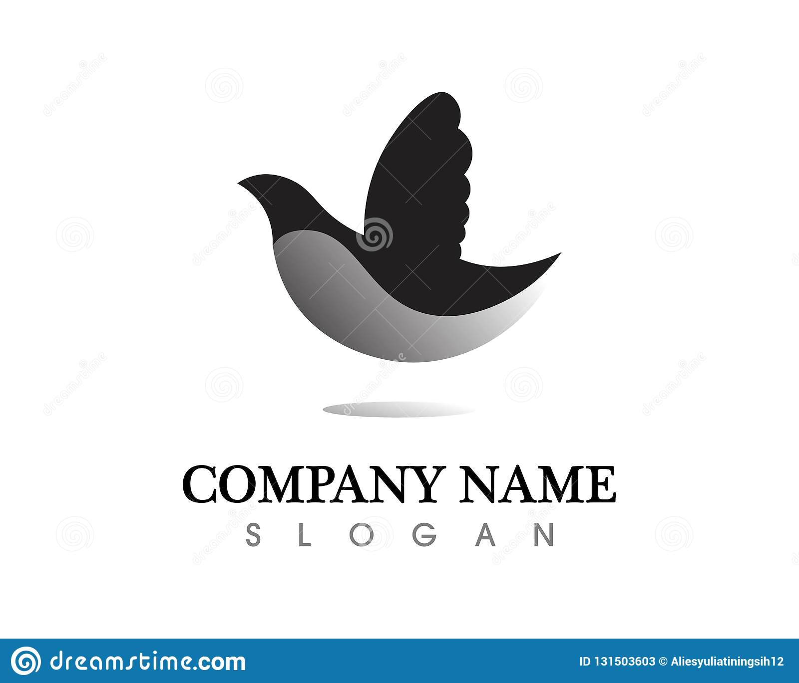 bird wing dove logo template vector illustration stock vector