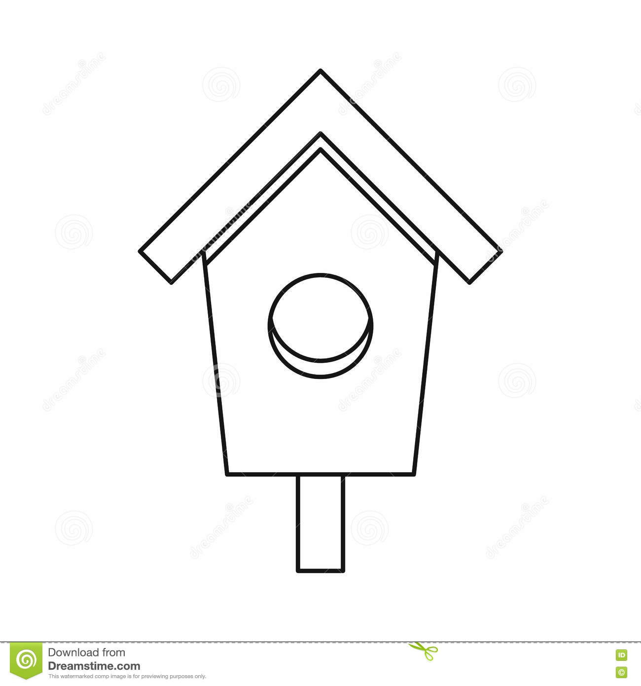 Birdhouse Nesting Box Icon, Outline Style Stock Vector ...