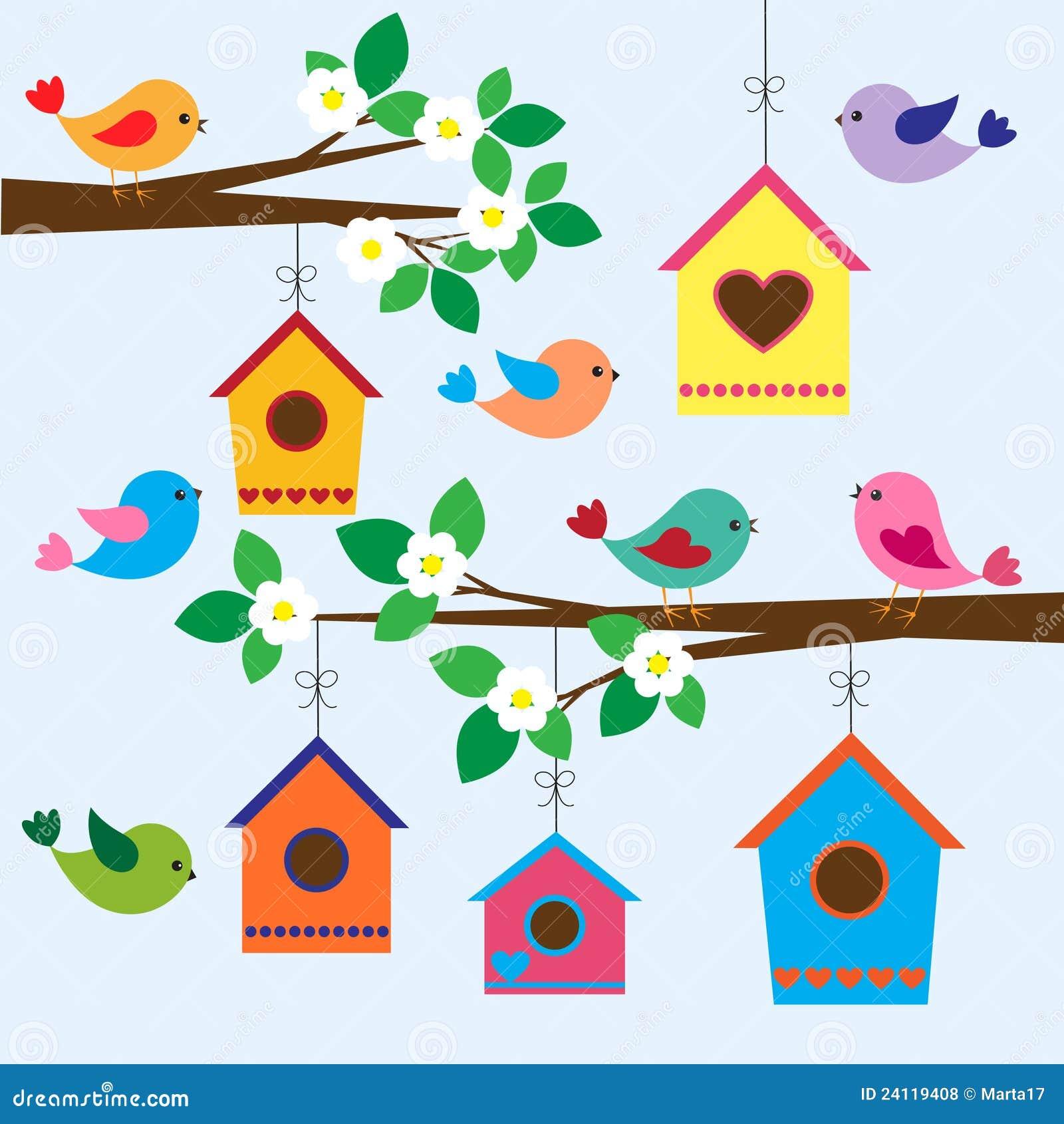 Birdhouses au printemps
