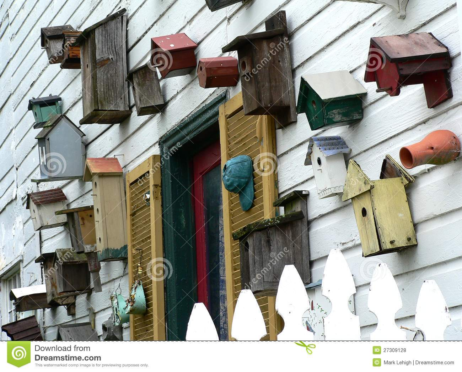 Download Birdhouses (landscape) stock photo. Image of habitat - 27309128